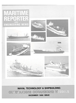 Maritime Reporter Magazine Cover Dec 1986 -