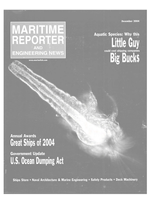 Maritime Reporter Magazine Cover Dec 2004 - Great Ships of 2004
