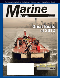 Marine News Magazine Cover Dec 2012 - Innovative Products &