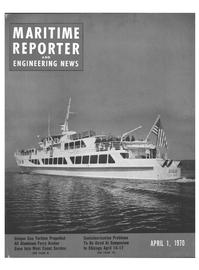 Maritime Reporter Magazine Cover Apr 1970 -
