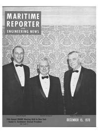 Maritime Reporter Magazine Cover Dec 15, 1970 -
