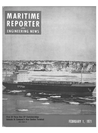 Maritime Reporter Magazine Cover Feb 1971 -