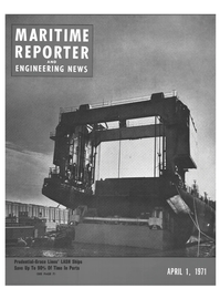 Maritime Reporter Magazine Cover Apr 1971 -