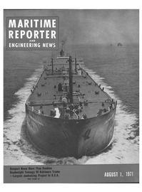 Maritime Reporter Magazine Cover Aug 1971 -