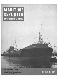 Maritime Reporter Magazine Cover Oct 15, 1971 -