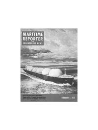 Maritime Reporter Magazine Cover Feb 1973 -