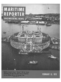Maritime Reporter Magazine Cover Feb 15, 1973 -