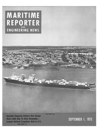 Maritime Reporter Magazine Cover Sep 1973 -