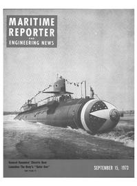 Maritime Reporter Magazine Cover Sep 15, 1973 -