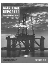 Maritime Reporter Magazine Cover Oct 1973 -