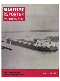 Maritime Reporter Magazine Cover Jan 15, 1974 -