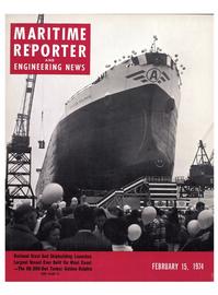 Maritime Reporter Magazine Cover Feb 15, 1974 -