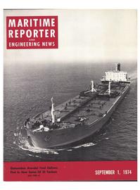 Maritime Reporter Magazine Cover Sep 1974 -