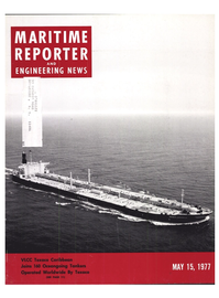 Maritime Reporter Magazine Cover May 15, 1977 -