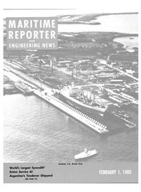 Maritime Reporter Magazine Cover Feb 1980 -