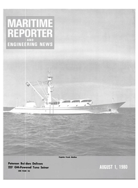 Maritime Reporter Magazine Cover Aug 1980 -