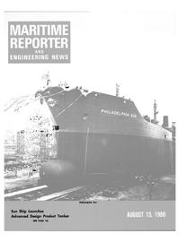 Maritime Reporter Magazine Cover Aug 15, 1980 -