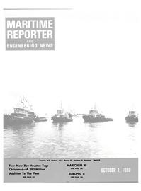 Maritime Reporter Magazine Cover Oct 1980 -