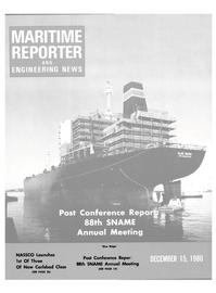 Maritime Reporter Magazine Cover Dec 15, 1980 -