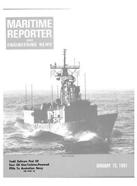 Maritime Reporter Magazine Cover Jan 15, 1981 -