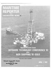 Maritime Reporter Magazine Cover Apr 1981 -