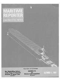 Maritime Reporter Magazine Cover Oct 1981 -