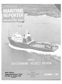 Maritime Reporter Magazine Cover Dec 1981 -