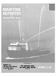 Maritime Reporter Magazine Cover Dec 15, 1981 -
