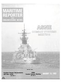 Maritime Reporter Magazine Cover Jan 15, 1983 -