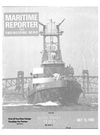 Maritime Reporter Magazine Cover Jul 15, 1983 -