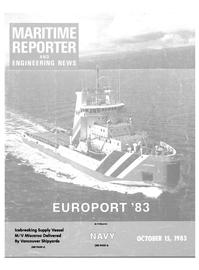 Maritime Reporter Magazine Cover Oct 15, 1983 -