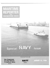 Maritime Reporter Magazine Cover Aug 15, 1984 -