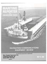 Maritime Reporter Magazine Cover May 15, 1985 -