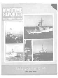 Maritime Reporter Magazine Cover Apr 1986 -