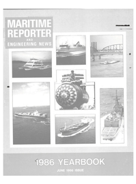 Maritime Reporter Magazine Cover Jun 1986 -