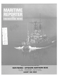 Maritime Reporter Magazine Cover Aug 1986 -