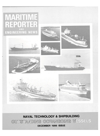 Maritime Reporter Magazine Cover Dec 1986 -