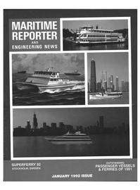 Maritime Reporter Magazine Cover Jan 1992 -