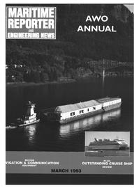 Maritime Reporter Magazine Cover Mar 1993 -
