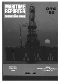 Maritime Reporter Magazine Cover Apr 1993 -