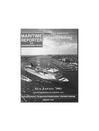 Maritime Reporter Magazine Cover Feb 1996 -