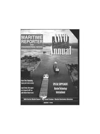 Maritime Reporter Magazine Cover Mar 1996 -