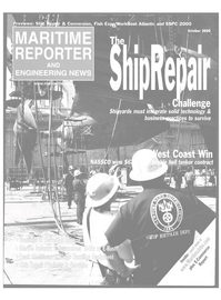 Maritime Reporter Magazine Cover Oct 2000 -