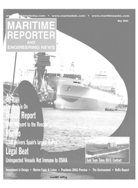 Maritime Reporter Magazine Cover May 2002 -
