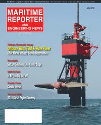 Maritime Reporter Magazine Cover Jul 2010 - Satellite Communication Edition