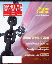 Maritime Reporter Magazine Cover Sep 2010 - Marine Propulsion Edition