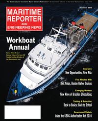 Maritime Reporter Magazine Cover Nov 2010 - Workboat Annual