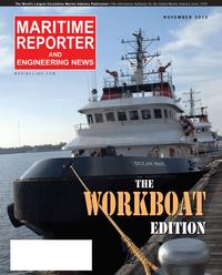 Maritime Reporter Magazine Cover Nov 2012 - Workboat Annual