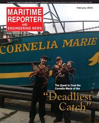 Maritime Reporter Magazine Cover Feb 2015 - Cruise Shipping Edition