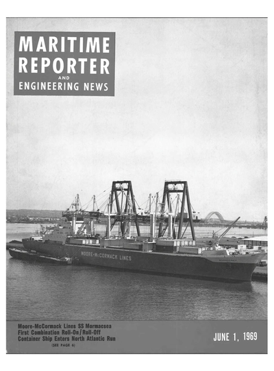 Cover of June 1969 issue of Marine News Magazine